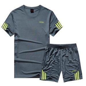 Freizeit-Suit-Sommer-Manner-Traning-T-Shirts-Shorts-Mehrfarbig-Fashion-Plus-Size