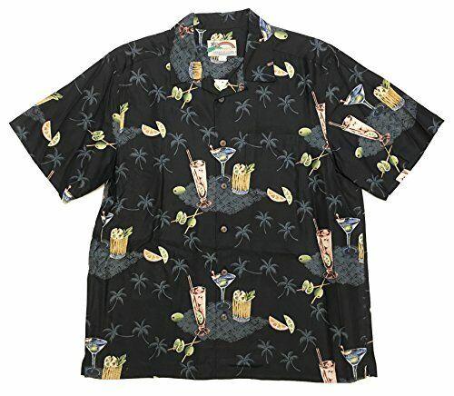 Paradise Found Men/'s Pau Hana Cocktail Silk Shirt