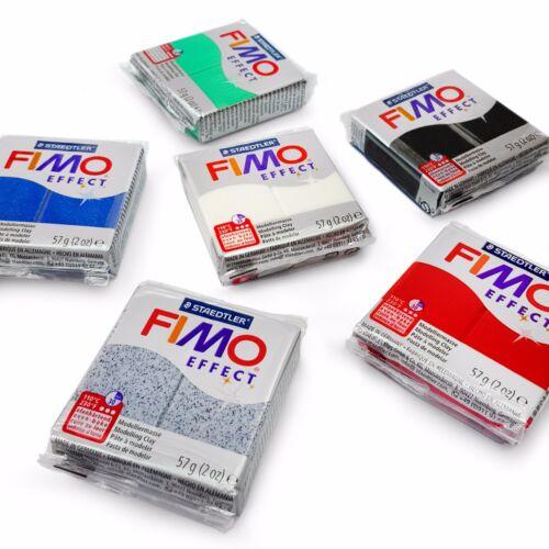 FIMO Effect Oven Modelling Clay - Starter Set - 6 x 57g - Multicolour Blocks