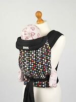 Mei Tai Wrap Sling With Bright Multicoloured Spots - Includes Full Instructions