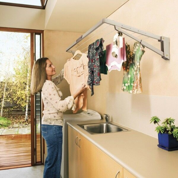 Folding wall mounted washing line portable co2 detector