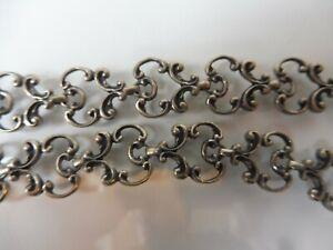 Sehr-schone-alte-Kette-Halskette-835-Silber