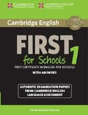 CAMBRIDGE ENGLISH FIRST FOR SCHOOLS 1 WITH ANSWERS