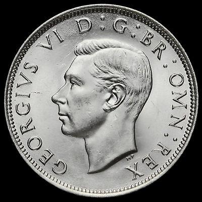 1945 George VI Silver Half Crown, A/UNC #3