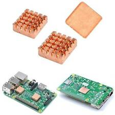 1 Set of Heatsinks 3 Pcs of Copper Heat Sink Cooling Kit for Raspberry Pi 3 LE