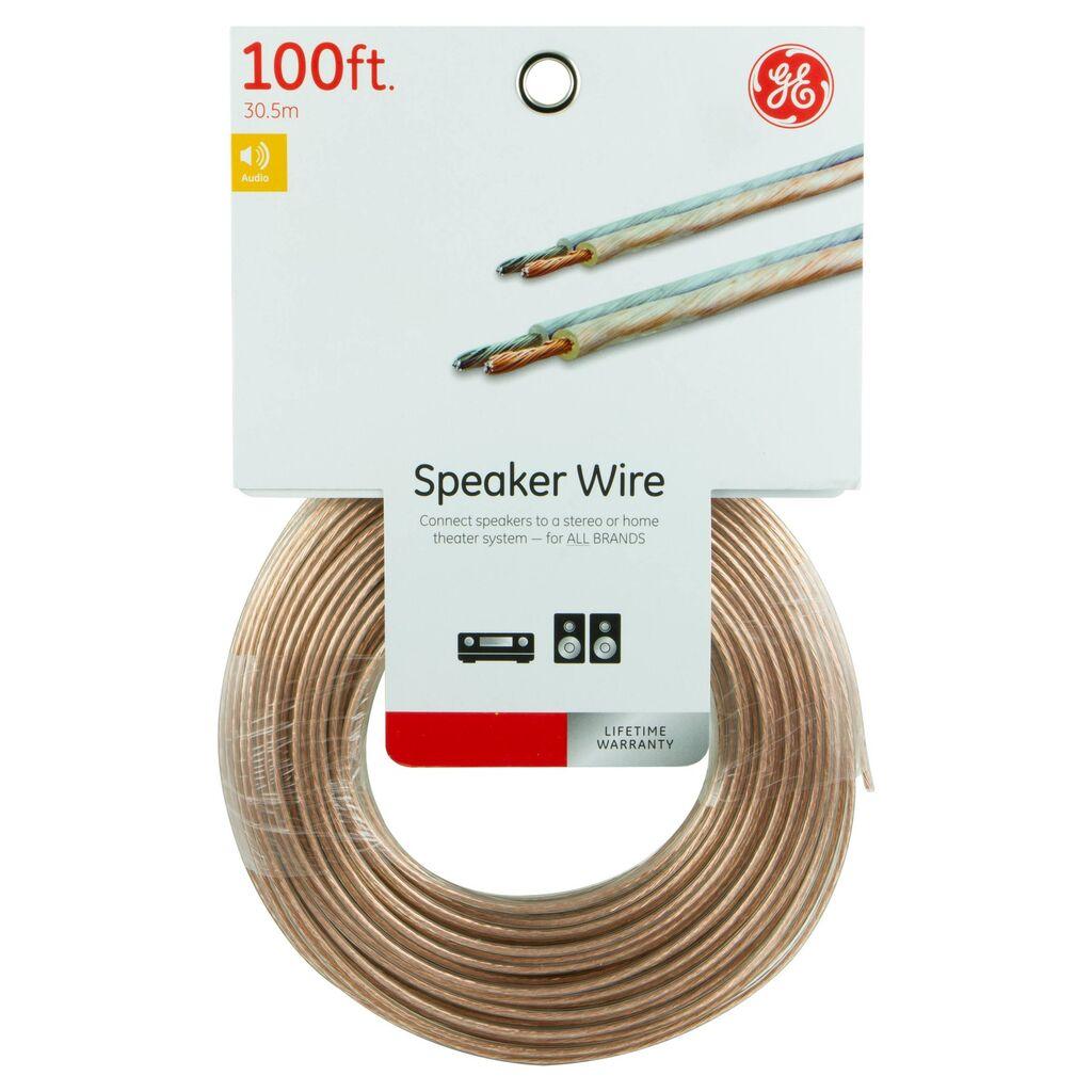 G.E. 100 ft. 18 Gauge Speaker Wire for All Brands | Ebay