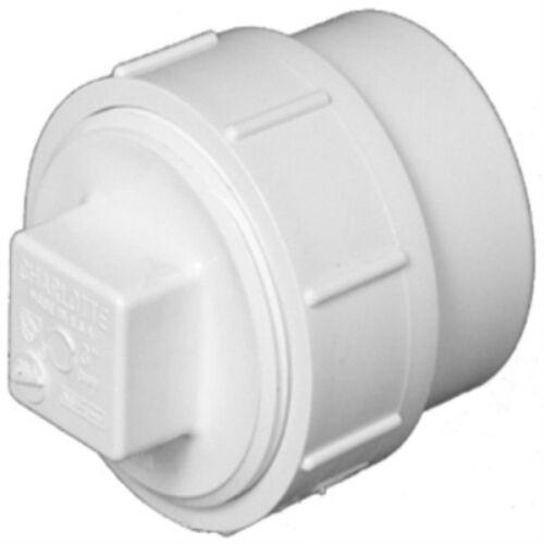 "Charlotte Pipe PVC-00105X-0800HA DWV Schedule 40 Cleanout Adapter w//Plug 2/"""