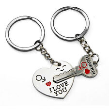 I Love You Arrow Heart & Key Couple Key Chain Ring Keyring Keyfob Lover Gift