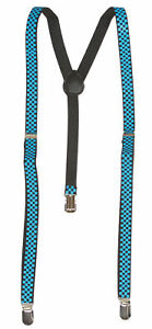 Checkered-3-Clip-Stretchable-Suspenders-2-pack