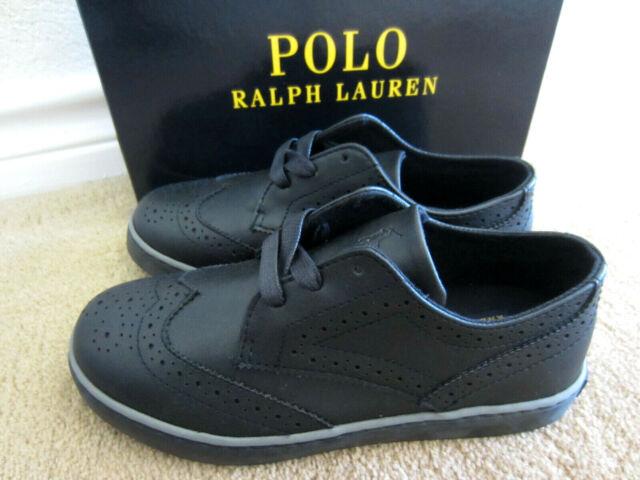 Polo Ralph Lauren Little Boys Alek-Oxford Chocolate Wingtip Sneakers Shoes