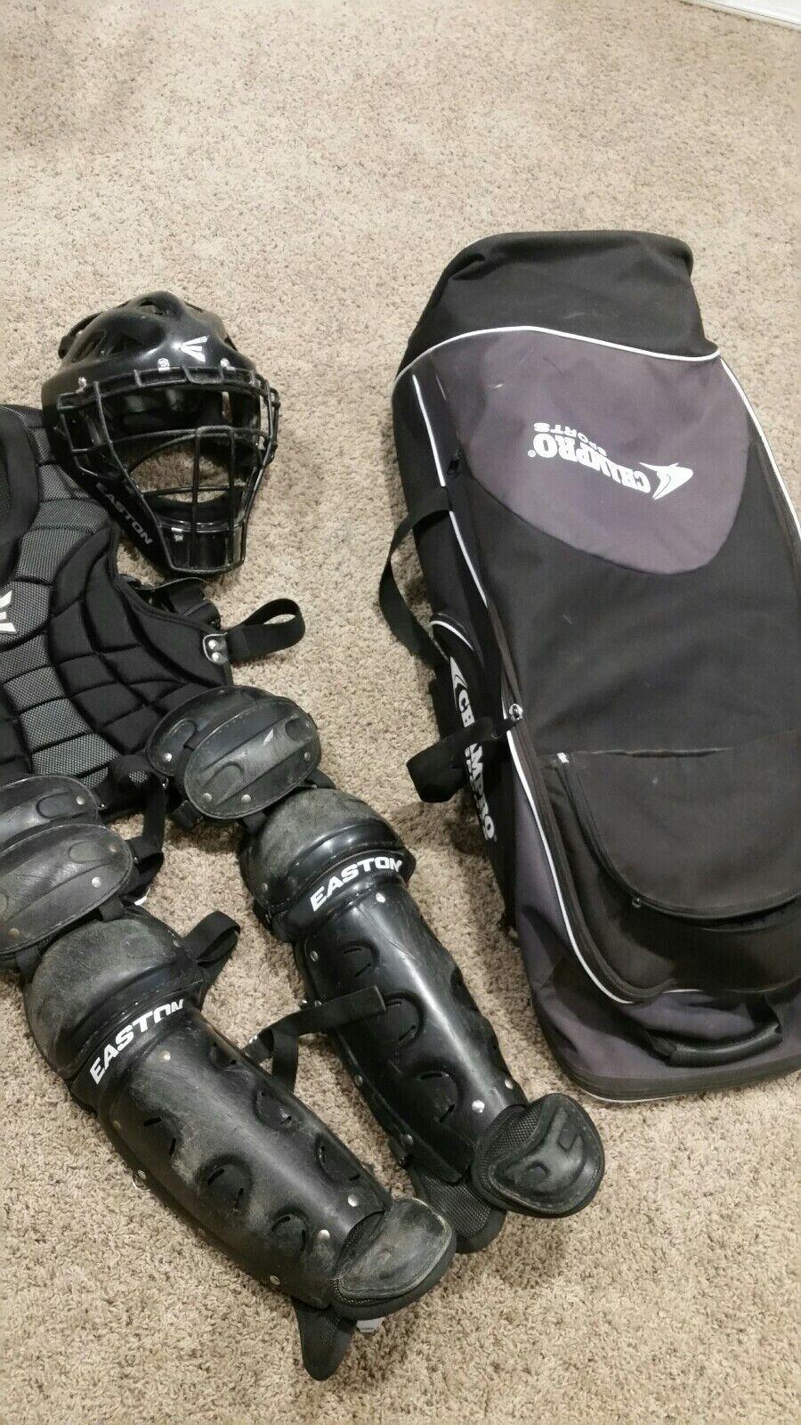 Colector de Easton Natural Intermedia equipo de béisbol casco pecho piernas Champro Bolsa