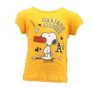 0a981647e05c Details about Oakland Athletics MLB Genuine Infant Toddler Girls Size Snoopy  T-Shirt New Tags