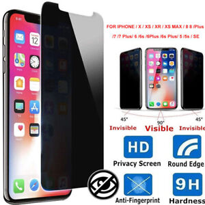 HO-9H-HD-Privacy-Tempered-Glass-Screen-Protector-iPhone-X-XS-XR-8-7-6-6S-Plus-B