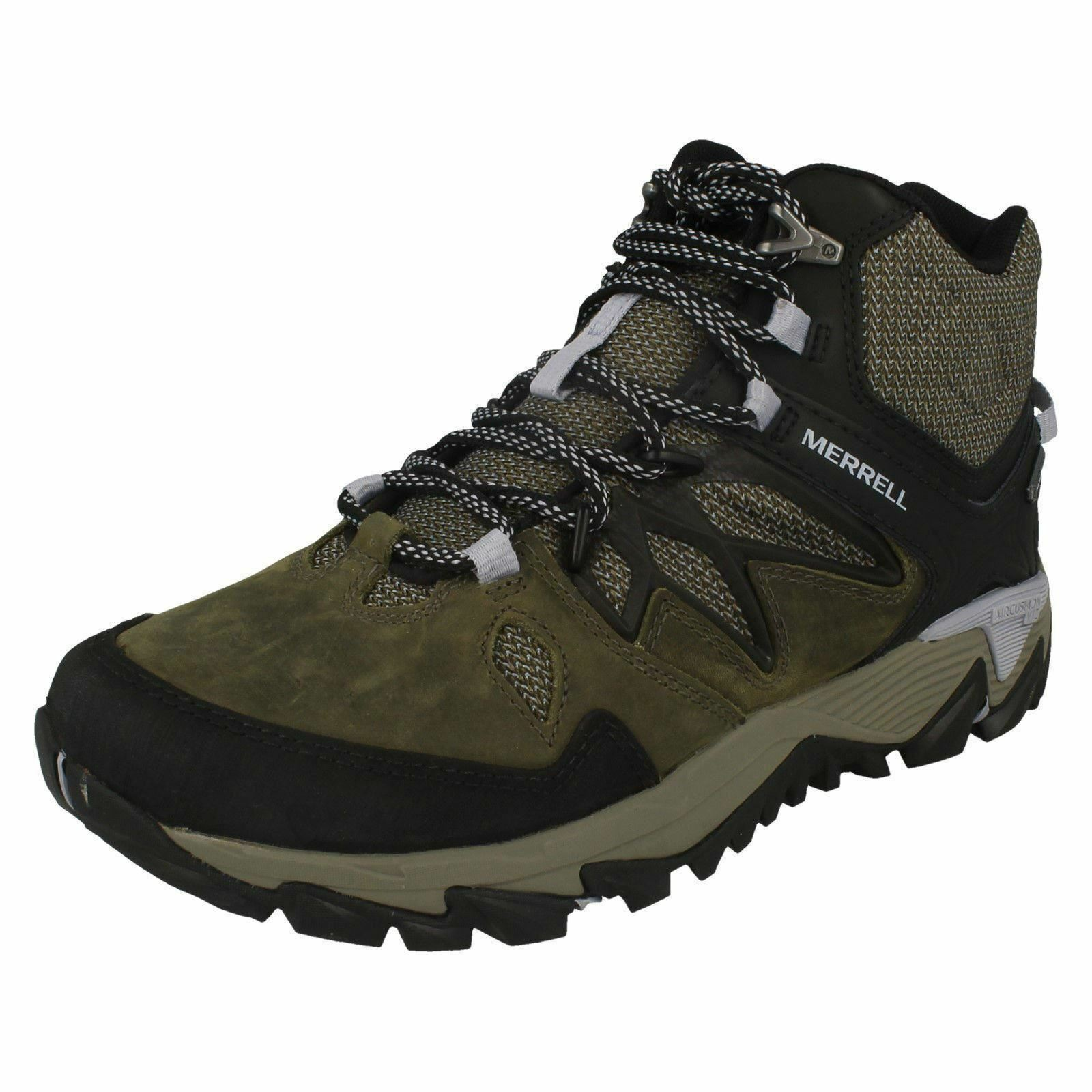 mujer all out blaze 2 mid GTX dark olive lace ankle botas merrell
