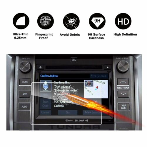 2014-2018 Toyota Tundra Car Navigation Screen Protector HD TEMPERED GLASS 6.1In