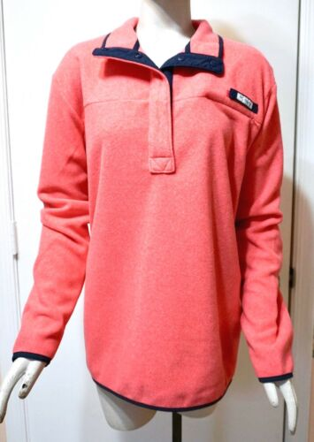 Punch Nwt Women's Heather Columbia Pullover Jakke Fleece Harborside Pink YxYnRArqf