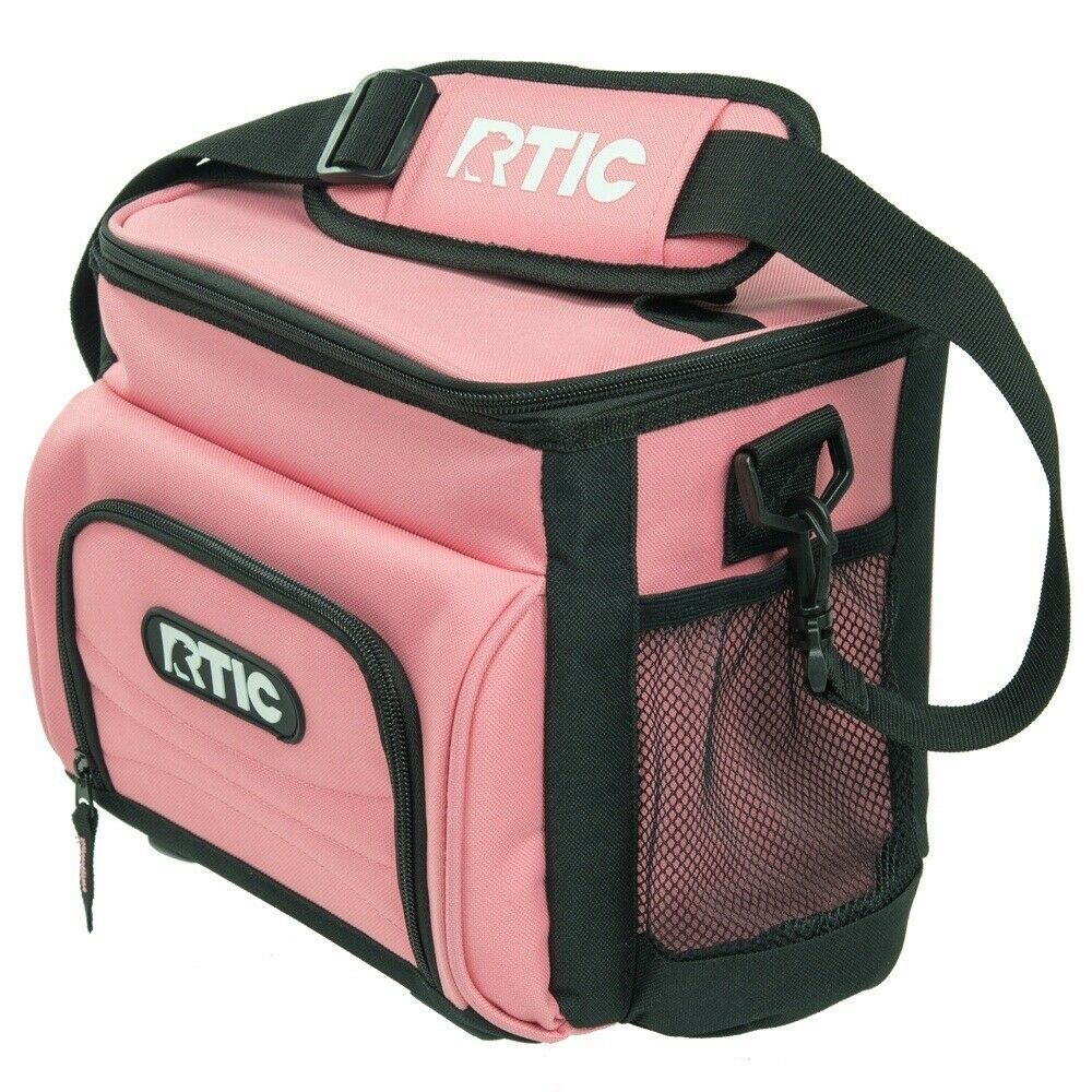 NEW RTIC Day Cooler 8 Can Lunch Box Ice Leak proof Foam Insulated Bag pink