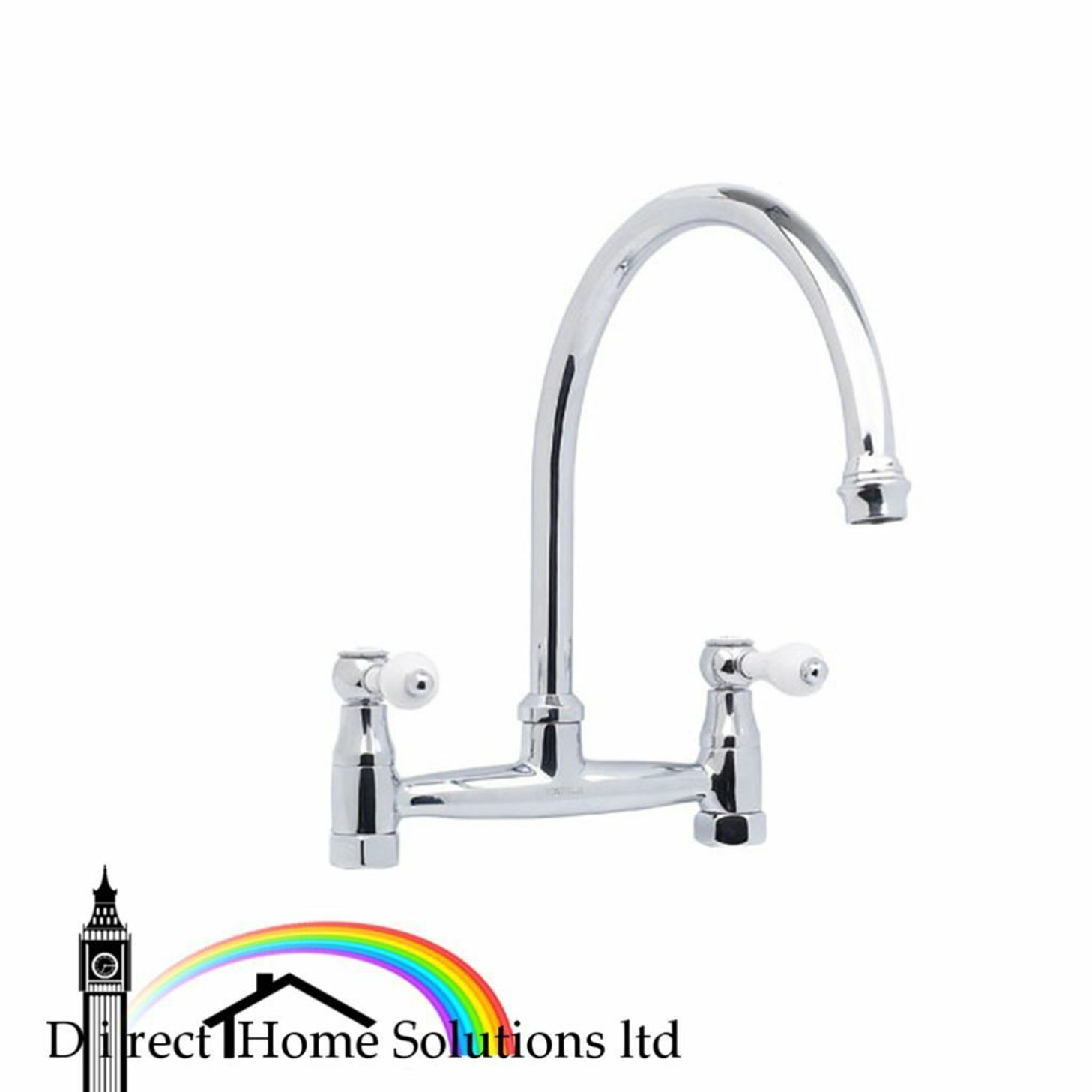 Hafele Hoveton bridge polished chrome mixer tap