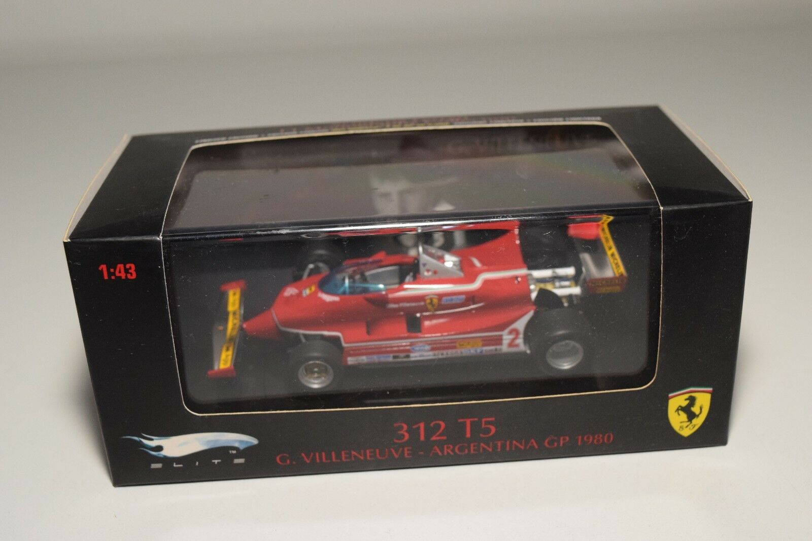 V 1 43 HOTWHEELS FERRARI 312 T5 VILLENEUVE GP argentoINA 1980 MINT BOXED