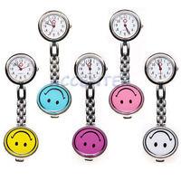 Smiley Face Quartz Fob Nurses Watch Yellow Blue Purple Pink White Nurse Watches