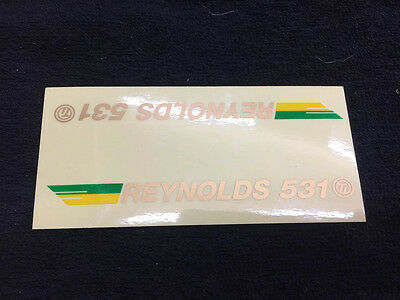 Reynolds 531 SE Racing tube decal blue