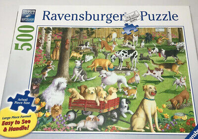 Ravensburger At The Dog Park Large Format Jigsaw Puzzle 500 Piece