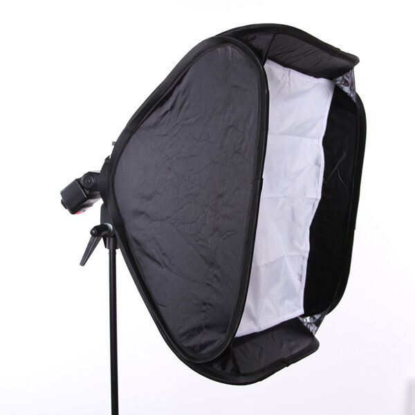 "24"" Portable 60cm Softbox Soft Box for Flash Light Speedlite Photo Speedlight"