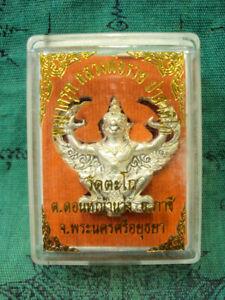 Phaya-Krut-Garuda-LP-Ruay-Wat-Tako-Talisman-Figure-Silver-Thai-Buddha-Amulet