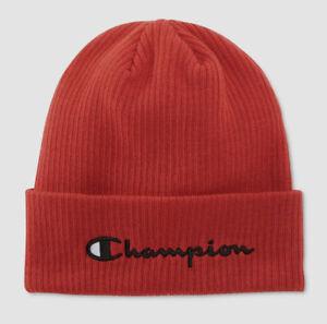 Champion Reverse Weave Script Beanie Cap Berry Red Mütze