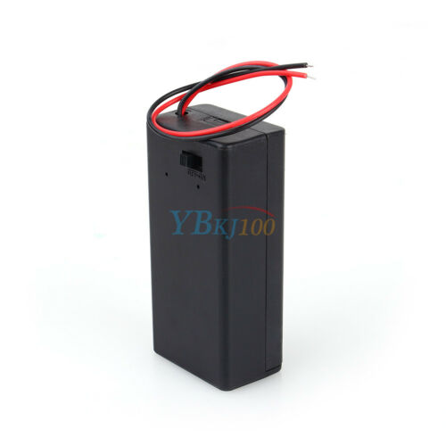 5PCS 9V Volt PP3 Battery Holder Box DC Case w// Wire Lead ON//OFF Switch Cover