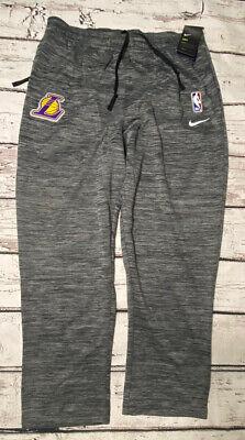 Nike Dri-Fit Los Angeles Lakers Warm Up Basketball Pants Grey Mens SZ. XXL-Tall   eBay