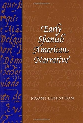 1 of 1 - New, Early Spanish American Narrative, Lindstrom, Naomi, Book
