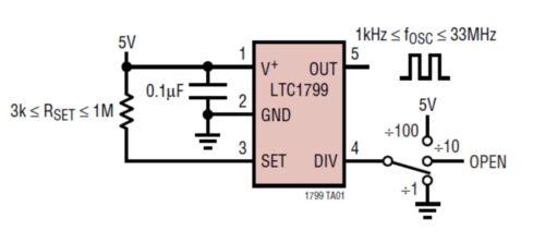 2-Stück LTC1799 Resistor Set Oscillator Sot-23-5 1kHz to 33MHz ..