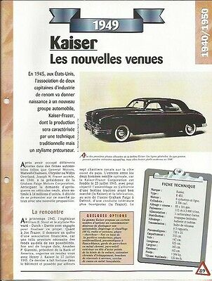 Caritatevole Voiture Kaiser K 492 Fiche Technique Auto 1949 Collection Car Design Professionale
