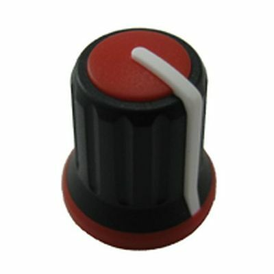 Coloured Potentiometer Mixer Knob Red Insert (4 Pack)