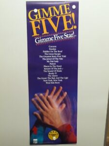 CBS-FOX-HOME-VIDEO-ENTERTAINMENT-034-GIMME-FIVE-STAR-034-PROMOTIONAL-POSTER-1988