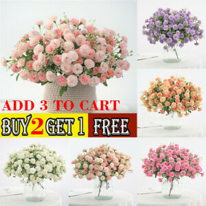 20 Heads Flowers Hydrangea Wreath Fake Artificial Silk Flower Home Party Decor Ebay