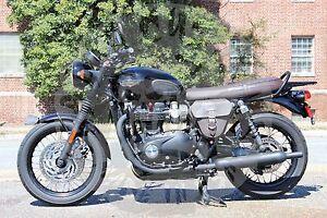 Triumph Bonneville T100 T120 Side Cover Bag Genuine Leather Tsb01