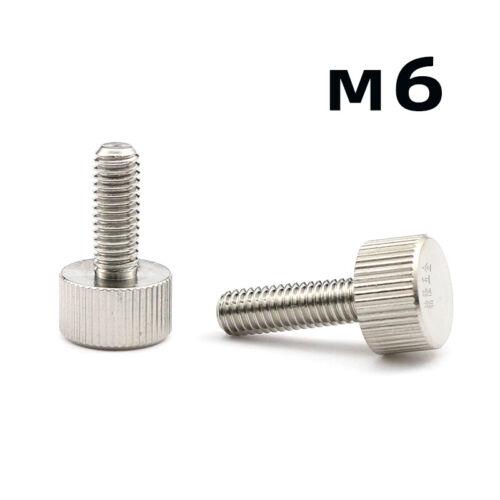 Edelstahl 303 VA Rostfre Rändelschrauben Hand Twist Schraube Bolzen M6* 10-25mm