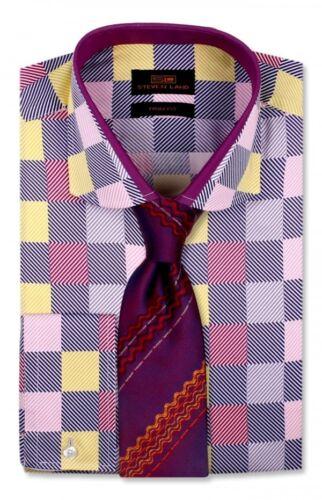 Robe Chemise uniquement par SL Bordure /& Classic Fit Convertible Cuff-multi couleur-TA762-MU