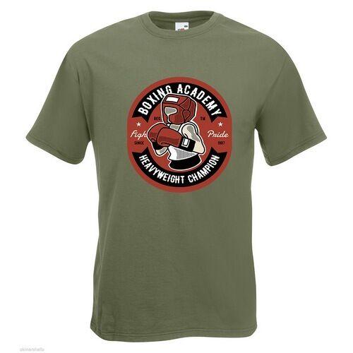 Boxing Academy Homme Homme Academy T-shirt imprimé Champion Poids lourd Gants texte Sport 18b998