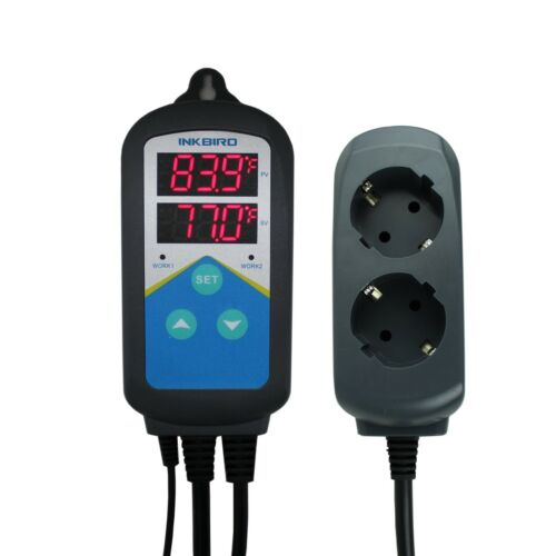 240V Brewing Digital Temp Controller Thermostat Sensor Thermocouple timer time