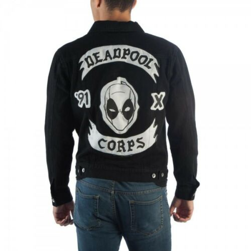 Jeans Deadpool Dj5ic5mvu Money Mercs Corps For Giacca Marvel Di Nero Bioworld z1q6dwd