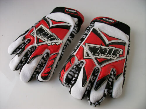 NEW RED WULFSPORT AGE 8-10 Sz XS KIDS MOTOCROSS OFF ROAD QUAD GLOVES YZ PW LT CR