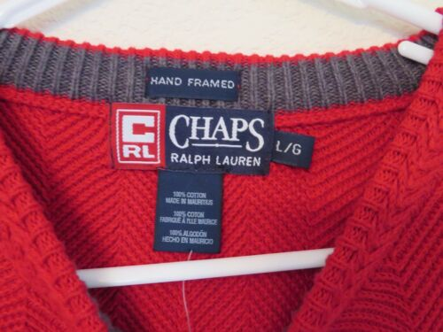 Da Maglione Ralph Lauren Uomo Nuovo Mano Girocollo Strutturato Chaps Chunky Hq6Ztdxnwt