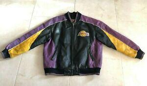 Vintage 58 Sports Los Angeles Lakers Jacket Mens Size Large Faux Leather Ebay