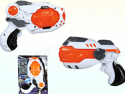 Kids Toy Gun LED Light up  Laser Space Sound Toy Play Flashing Pistol Boys Gift