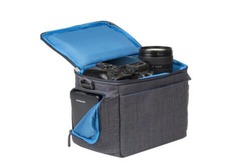 Riva 7502 Colt Protección Bolsa funda de silicona canvas gris para Canon EOS 650d