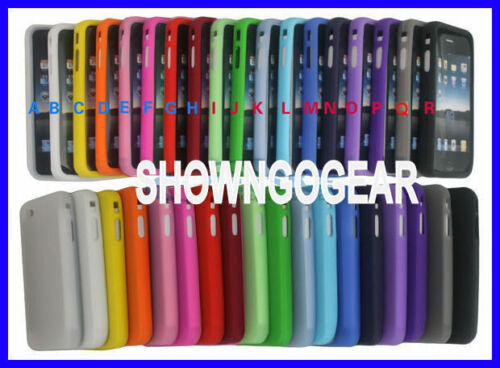 IPHONE 4 4S 3G 4G OS APPLE Silicone Rubber Skin Gel Cover Case jelly bean colour