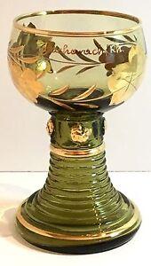 Wittig-Hadamar-1919-Bacharach-Rhein-Glass-Goblet-Hand-Decorated-Germany